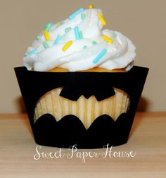 24 Batman Cupcake Wrappers - Blue, Yellow, Black (Boy, Girl, Baby Shower, Birthday Party, Super Hero Party, Superhero, Theme, Classroom) by SweetPaperHouse on Etsy https://www.etsy.com/listing/191845004/24-batman-cupcake-wrappers-blue-yellow