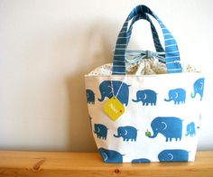 elephant family  Lunch bag by Noei on Etsy, $36.00