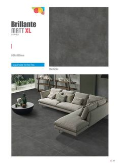Are you searching for Atlantis? Don't look further, we have it!  #Atlantis Gry - Millennium Tiles 800x800mm (32x32) Vitrified Matt Large Format #IndustrialDesign Porcelain #Tiles Series