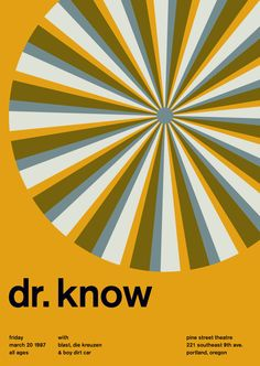 know at pine street theatre, 1987 - swissted by mike joyce Typographic Design, Typography, Mike Joyce, International Typographic Style, Art With Meaning, Pattern Recognition, Swiss Design, Vintage Graphic Design, Cool Logo