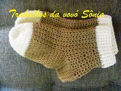 Trabalhos da vovó Sônia: Meias de inverno para adulto - crochê