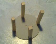 3 Push the 4 wooden pieces down onto the pins Vehicle, Kit, Vehicles