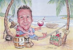 A3 Caricature (40th Birthday)