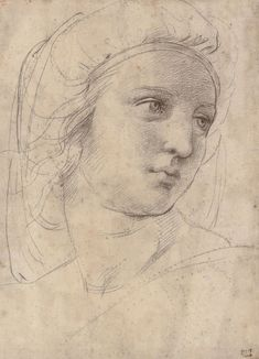 10 Old Master works that changed the art market  Raffaello Sanzio, called Raphael (1483-1520), Head of a Muse, c. 1510. Black chalk over pounce marks, traces of stylus. 30.5 x 22 cm (12 x 8½ in). Sold for £29,161,250 on 8 December 2009 at Christie's in London. © Christie's Images