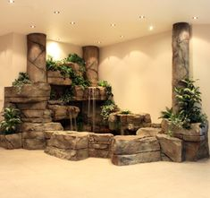 Mini-Omelett-Muffins - New Ideas - New Ideas Indoor Wall Fountains, Indoor Pond, Tabletop Water Fountain, Water Fountains, Rock Waterfall, Indoor Waterfall, Waterfall Fountain, Indoor Water Features, Garden Design