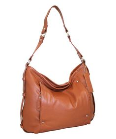 Look what I found on #zulily! Cognac Holly Leather Hobo by Nino Bossi Handbags #zulilyfinds
