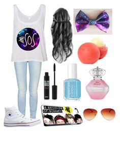 """""""5 Seconds of summer consert"""" by izzybae ❤ liked on Polyvore featuring ONLY, Converse, dELiA*s and Essie"""