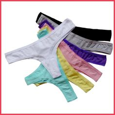 Pack of 7 Underwears Women 2017 Sexy Cotton Briefs Thongs And G String Low-Rise Underpants Weekly Underwear Gift Package
