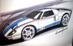 How to draw a car with Copic markers: tutorial by Michele Leonello