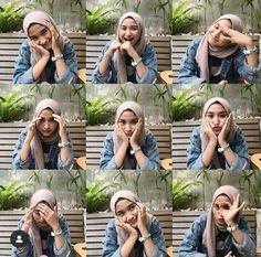 Stylish Hijab, Casual Hijab Outfit, Portrait Photography Poses, Photo Poses, Insta Photo Ideas, Photo Tips, Style Hijab Simple, Hijab Cartoon, Selfie Poses