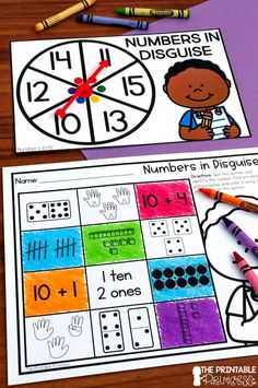 Kindergarten math centers made EASY! EASY to prep and plan, interactive, meaningful, and FUN! Teaching Numbers, Math Numbers, Teaching Math, Teaching Ideas, Free Kindergarten Worksheets, Kindergarten Centers, Math Centers, Counting Activities, Numeracy Activities