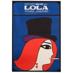 "Vintage ""Lola"" 1967 Polish Film Poster Jacques Demy (12,055 MXN) ❤ liked on Polyvore featuring home, home decor, wall art, posters, vintage film posters, polish film posters, movie star posters, vintage posters and vintage home accessories"