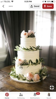 20 Greenery Wedding Cakes That Are Naturally Gorgeous; summer wedding cakes 20 Greenery Wedding Cakes That Are Naturally Gorgeous Summer Wedding Cakes, Wedding Cakes With Flowers, Cake Wedding, Garden Wedding Cakes, Wedding Backyard, Summer Wedding Flowers, Floral Wedding Cakes, Party Summer, Summer Food