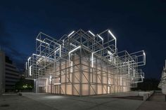 【 】 🥰# Mario Cucinella Architects—Golinelli Foundation's new Arts and Sciences Center 😘For details, plz click the picture. Shed Design, Facade Design, Architecture Design, Facade Lighting, Lighting Design, Halle, Bologna, Mario, Temporary Structures