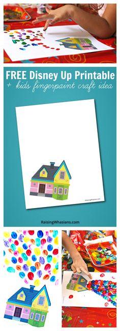 FREE Disney Up Printable + Kids Craft Idea - Raising Whasians