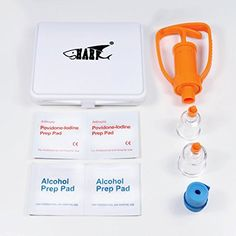 Shark Venom Extractor Pump Kit/ Poison Remover Sets, First Aid Set for Snakes and Insects Bites and Stings (A Gift for Outdoor Lovers) -- This is an Amazon Affiliate link. You can find out more details at the link of the image.