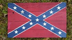 Rustic Barnwood Confederate  Flag by jandkoutdoors on Etsy