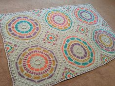 yarn-over:   Summer Mosaic Afghan Paid Pattern byJulie Yeager