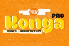 Konga Pro+Cyrillic by Rodrigo Typo on Creative Market
