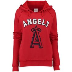 Los Angeles Angels of Anaheim 5th & Ocean by New Era Women's Hot Corner Pullover Hoodie - Red - $47.99