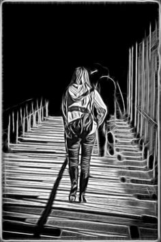 """""""Walking in the shadows"""" by Eric Krede. This limited edition black and white photograph comes from Erik's collection on FineArtSeen. Click to view more art at great prices from the Home Of Original Art. << Pin For Later >>"""