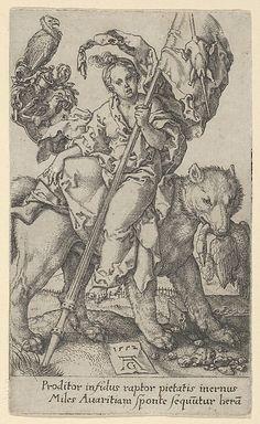 Avarice, from The Vices - Heinrich Aldegrever