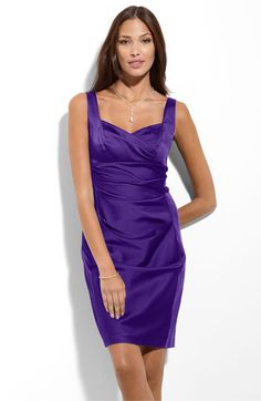 Donna Morgan Stretch Satin Sheath Dress