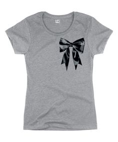 Take a look at this Athletic Heather Bow Fitted Tee today!