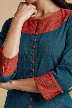 Silk Kurti Designs, Churidar Designs, Kurta Designs Women, Kurti Designs Party Wear, Blouse Designs, Churidhar Neck Designs, Neck Designs For Suits, Neckline Designs, Sleeves Designs For Dresses