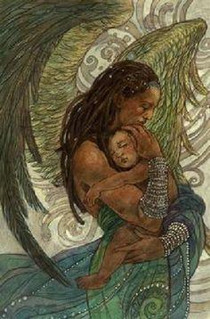 Guardian Angel ~Rebecca Guay, art, illustration