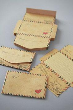 """LOVE NOTES """"enveloppe vintage"""" - 3,20€/42 billets"""
