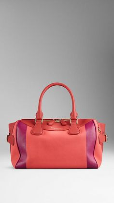 Bright peony The Bee in Hand-Painted Leather - Image 1