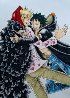 Trafalgar D. Water Law and Donquixote Rocinante (Corazon) (Corasan, Cora-san)…