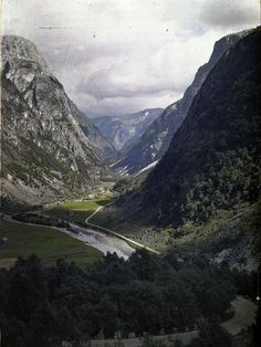 Fjord // Early colour photograph of Norway, c. 1910 | Adolf Miethe