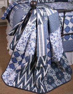 Google Image Result for http://www.bellahomefashions.com/images/detailed/ikat-indigo-navy-blue-and-white-patchwork-cotton-quilt-throw.jpg