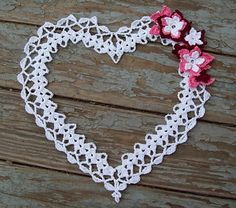 Whimsical Heart Doily pattern by Sarah Cooper