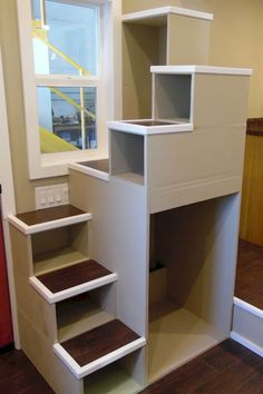 Genius loft stair for tiny house ideas (83)