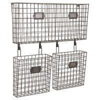 3-Basket Wall Organizer