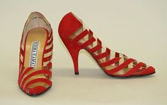 Norma Kamali  Shoes - American 1982. Leather, synthetic