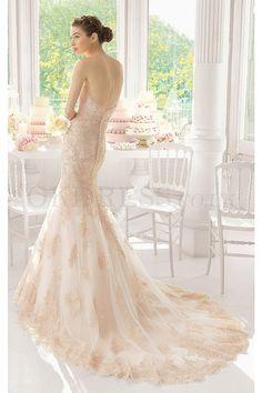 Glorious Chapel Train Empire Mermaid Sweetheart Sleeveless Wedding Dresses - by OKDress UK