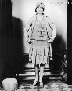 Le style flappers dans les années 20.