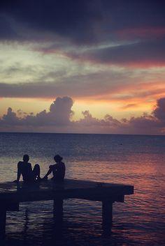 Dusk & Summer & Beach & Lover