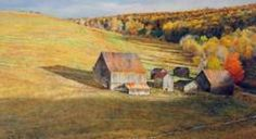The Art of David Armstrong David Armstrong, Autumn Art, May Flowers, Diy Craft Projects, Landscape Art, Still Life, Barns, Harvest Time, Nature