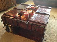 For the love of butter and all things bad.: Ammo crate coffee table