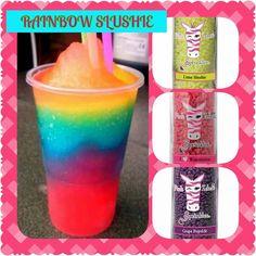 Pink Zebra Recipe: Rainbow Slushie https://www.facebook.com/PZDeniK/ https://www.pinkzebrahome.com/DeniK