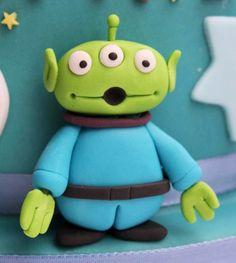 Green monster on a Buzz Lightyear Cake!