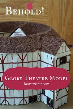 This Globe Theatre model was created during a Shakespeare Workshop. Such attention to detail!