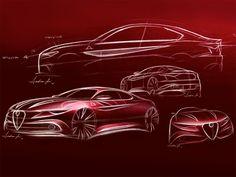 Alfa Romeo Giulia - Design Sketches