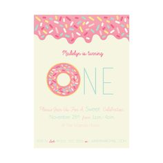 Sweet Celebration Donut DIY Printable First by MoonBunnyPaperie