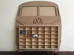 Designed in Brisbane Australia by WoodenWares : Matchbox, Hot Wheels model car storage. Designed in Brisbane Australia by WoodenWares Hot Wheels Storage, Toy Car Storage, Hot Wheels Display, Crate Storage, Kids Storage, Baby Storage, Storage Ideas, Matchbox Car Storage, Matchbox Cars